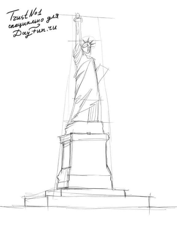 statue of liberty drawing step for step how to draw the statue of liberty step by step arcmelcom step statue step drawing liberty of for