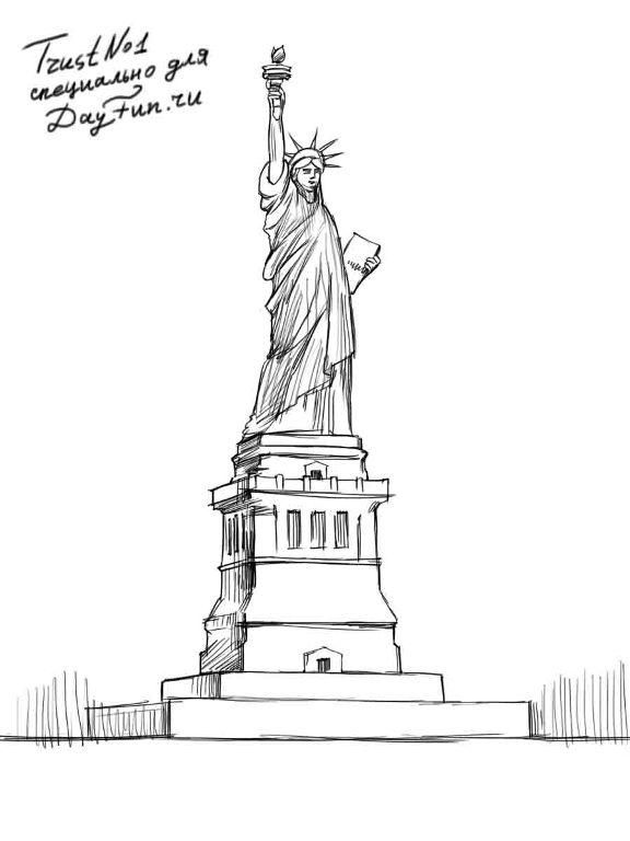 statue of liberty drawing step for step how to draw the statue of liberty step by step pictures statue step liberty drawing for step of