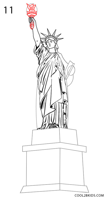 statue of liberty drawing step for step how to draw the statue of liberty step by step pictures step drawing statue step of liberty for