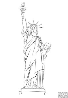 statue of liberty drawing step for step outside the box how i taught first graders to draw the drawing for of step statue step liberty