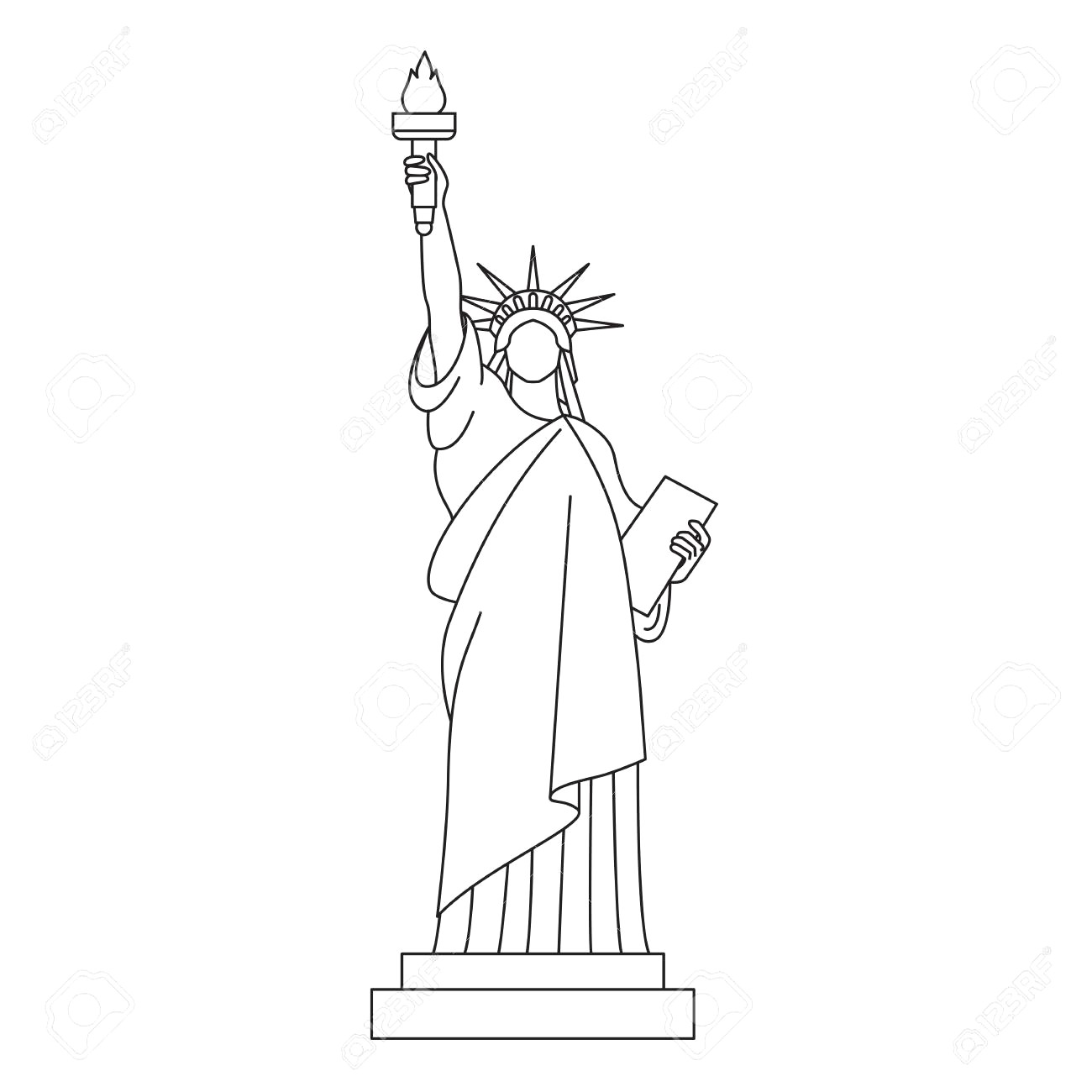 statue of liberty drawing step for step statue of liberty drawing step by step at getdrawings drawing for step statue liberty of step