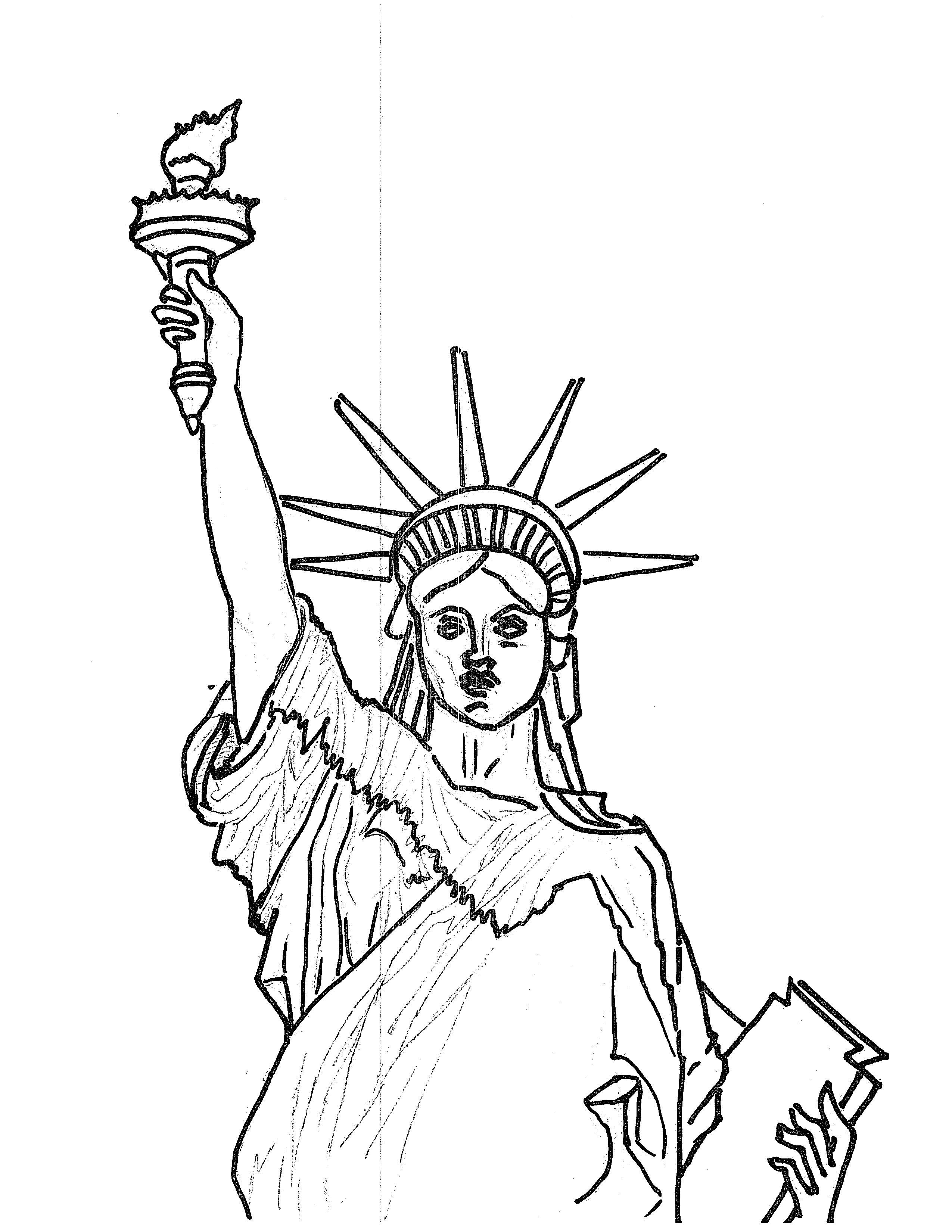 statue of liberty drawing step for step statue of liberty drawing step for step step liberty drawing statue for of step
