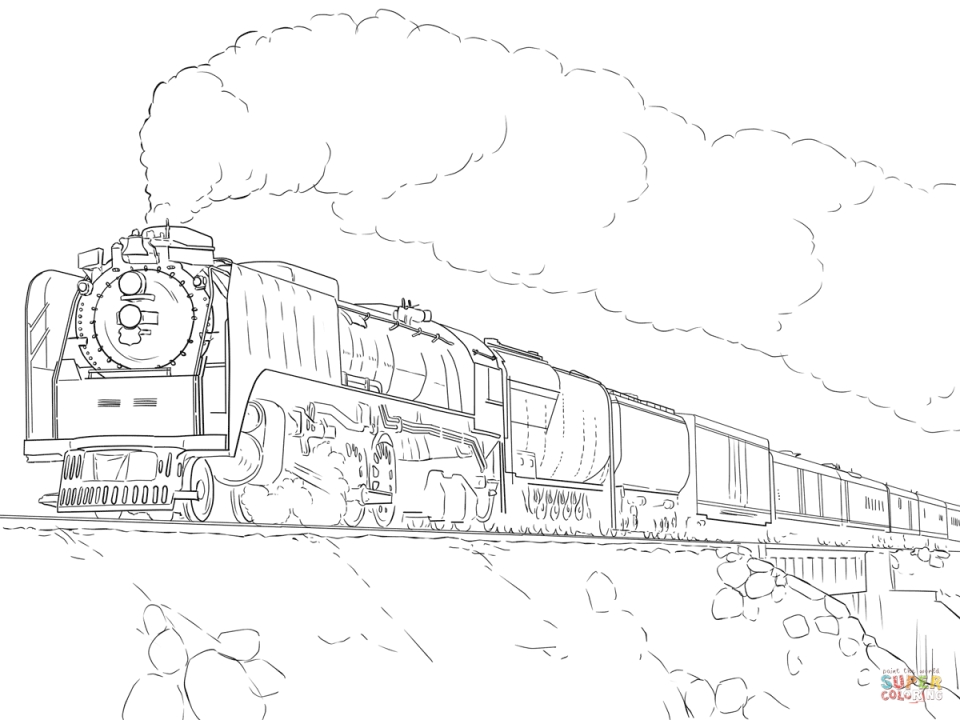 steam train colouring pages long steam train on railroad coloring page color luna steam train colouring pages