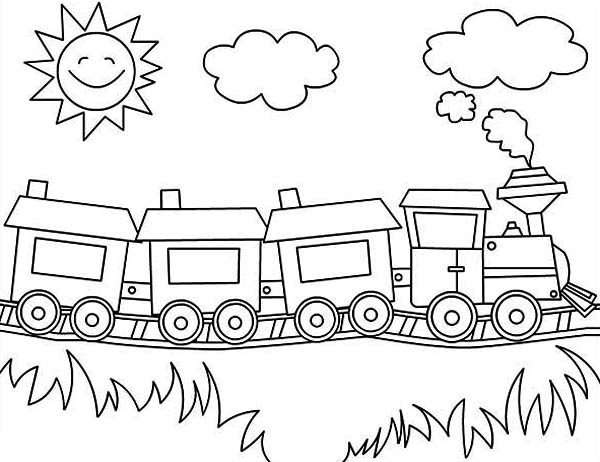steam train colouring pages steam train with two carriages coloring page free steam pages train colouring