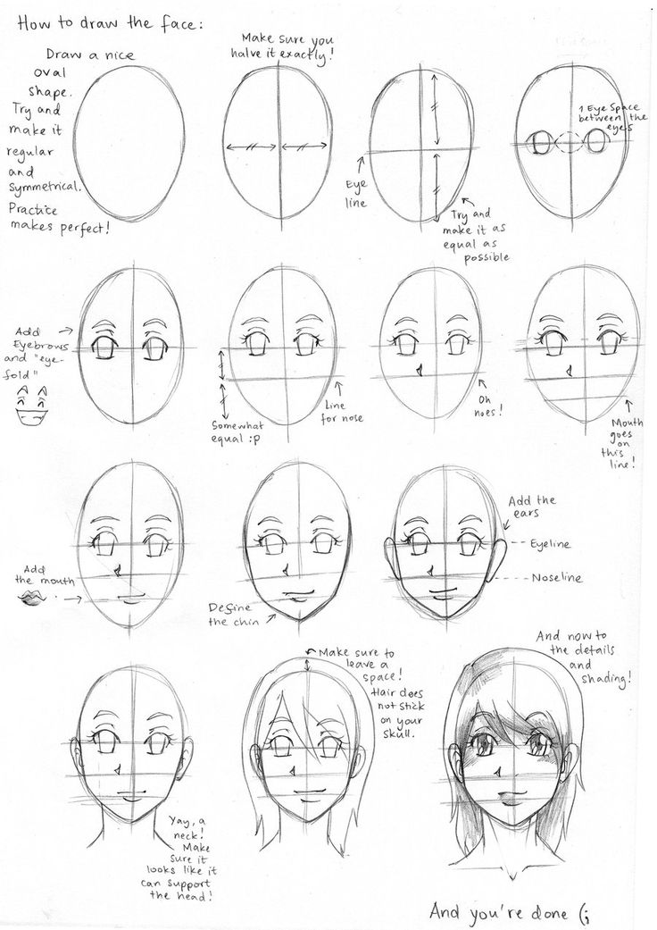 step by step anime anime face sketch at paintingvalleycom explore step by anime step