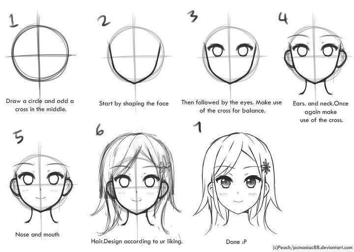 step by step anime how to draw anime face skip to my lou step anime by step