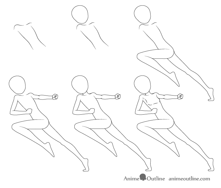 step by step anime how to draw anime poses step by step animeoutline anime step by step