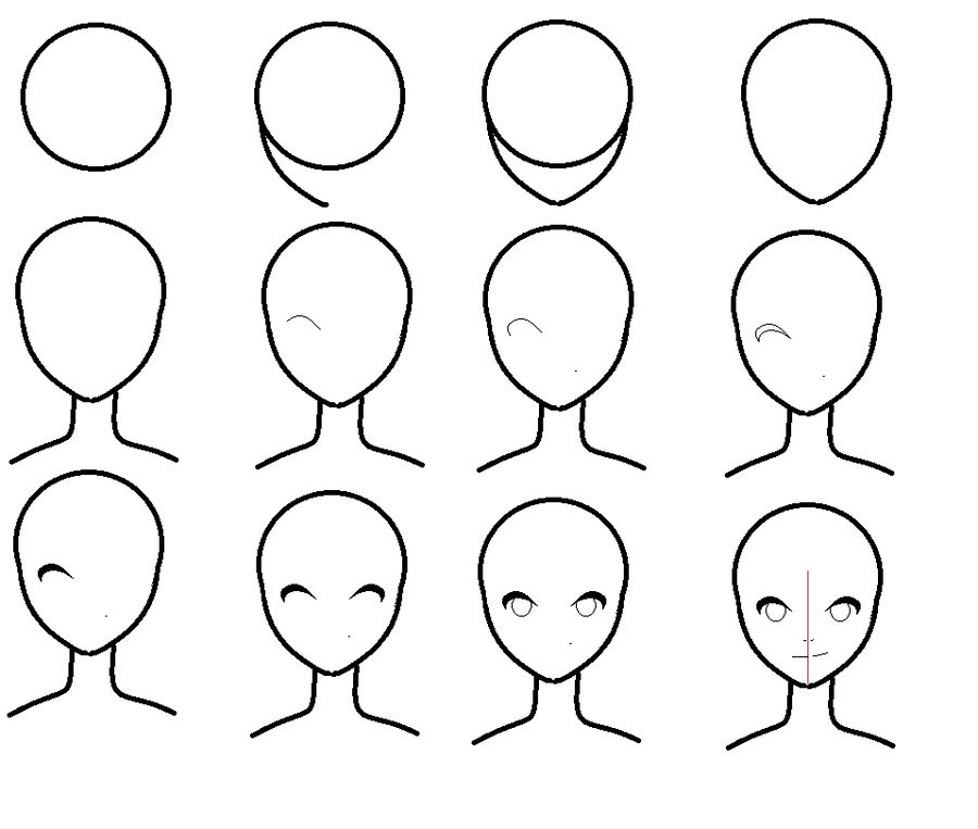 step by step anime image result for cartoon people drawing easy anime face anime step by step