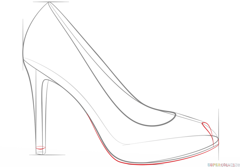 step by step how to draw a shoe how to draw anime shoes step by step animeoutline shoe to how draw step a step by
