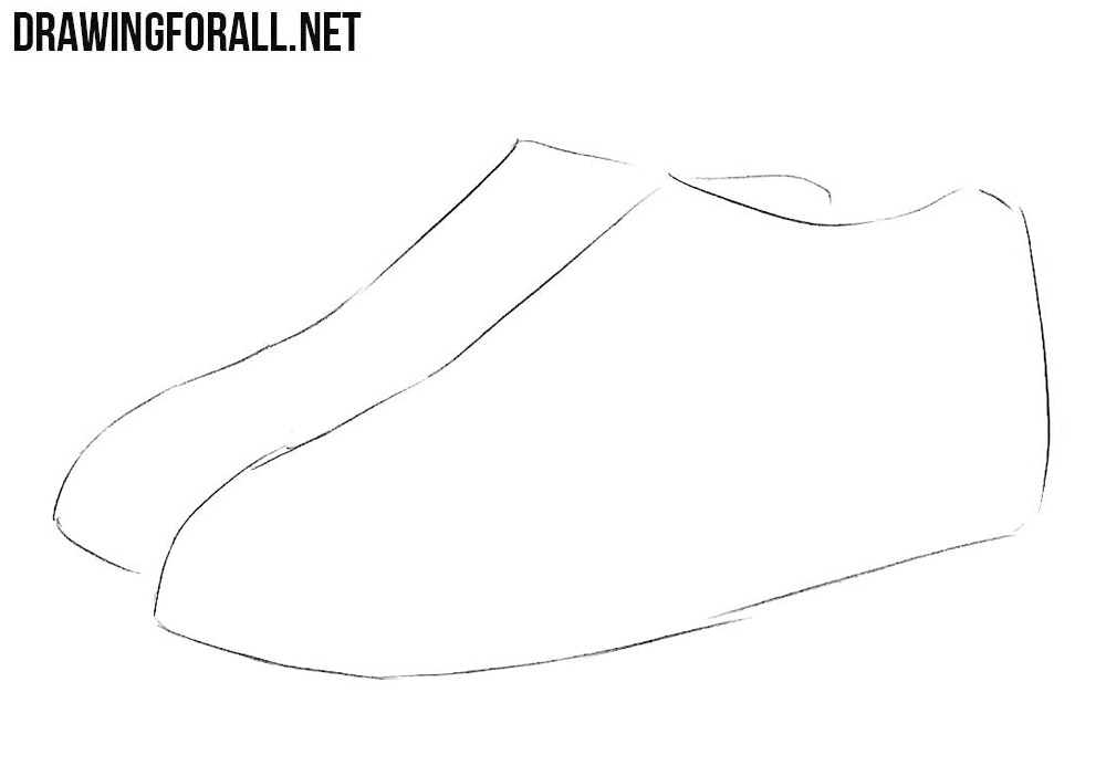 step by step how to draw a shoe how to draw running shoes drawingnow shoe step how step a by to draw