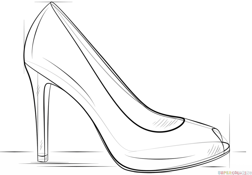 step by step how to draw a shoe how to draw shoes drawingforallnet draw how to shoe a step step by