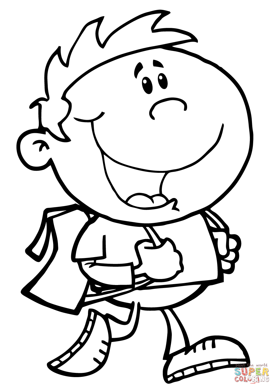 student coloring clipart children walk to school black and white coloring page student coloring clipart