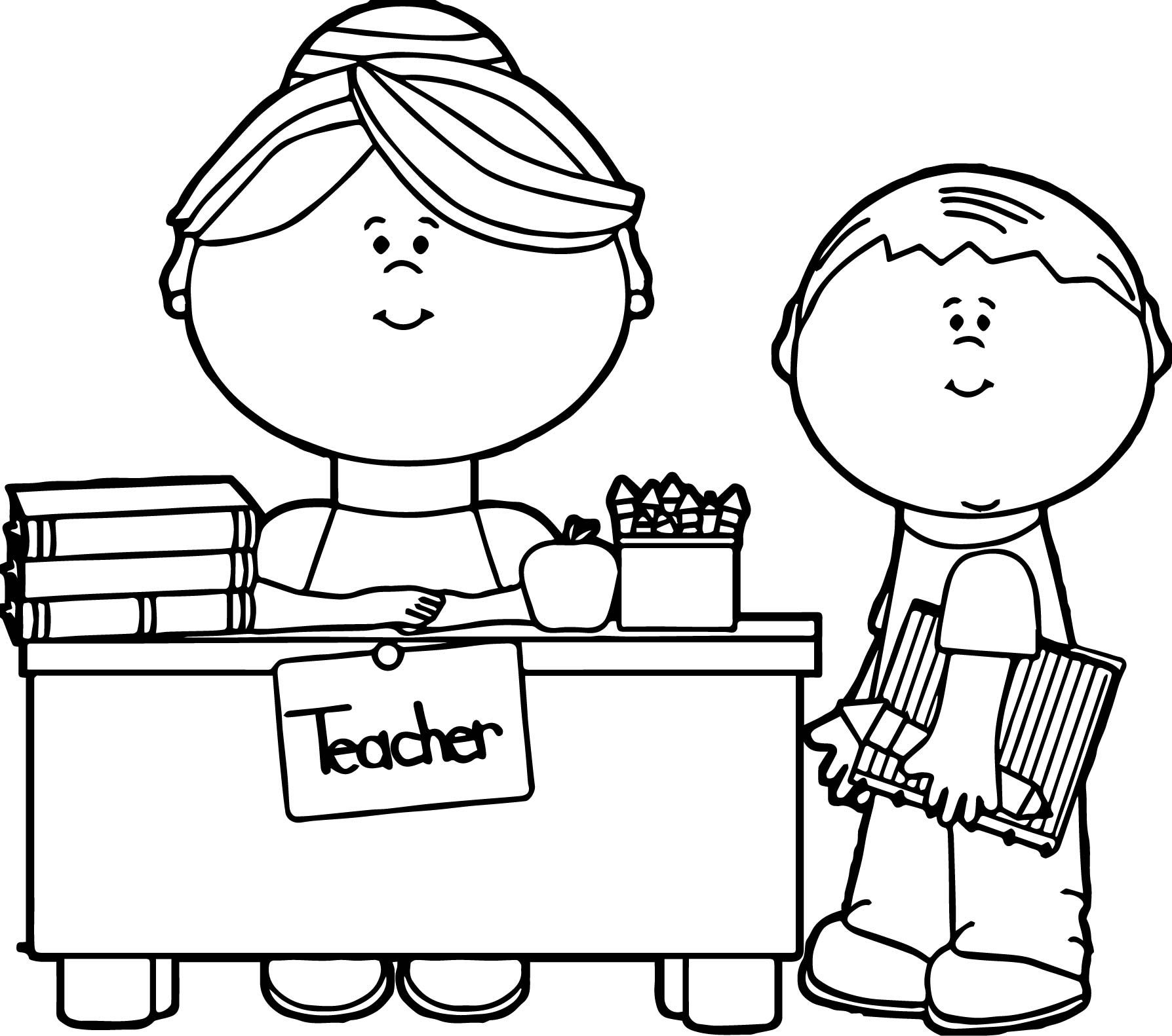 student coloring clipart english teacher and student coloring page english teacher coloring clipart student