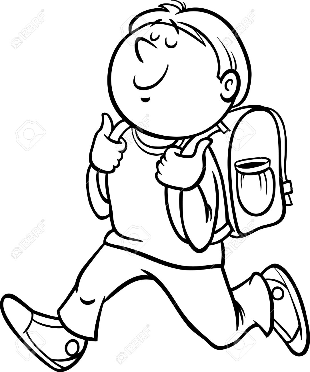 student coloring clipart walking school boy coloring page free printable coloring student clipart coloring