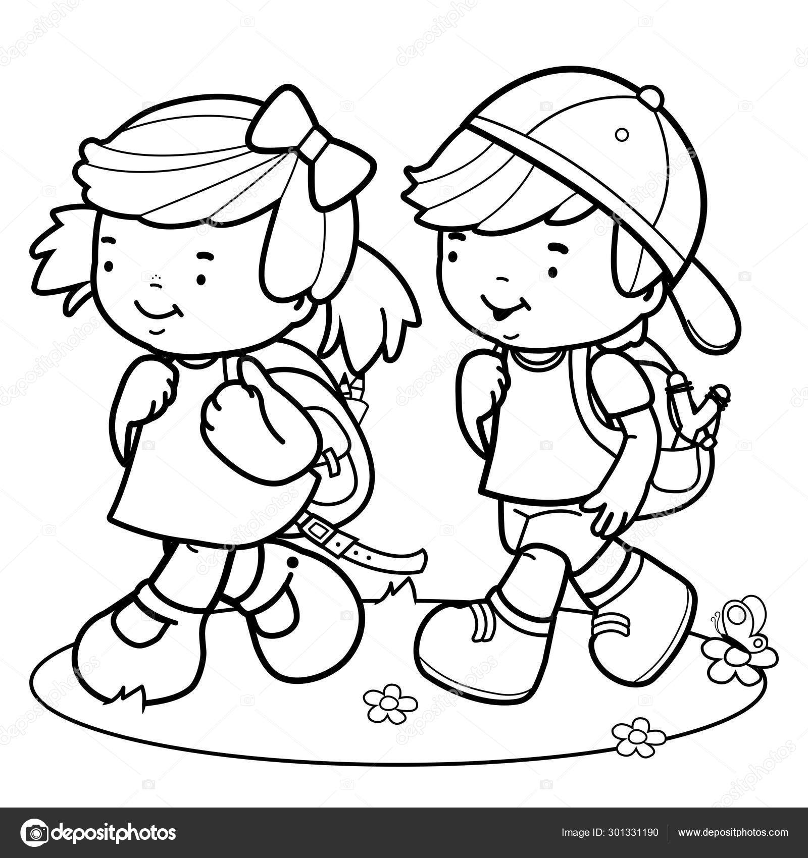 student coloring clipart young students coloring page stock illustration clipart student coloring