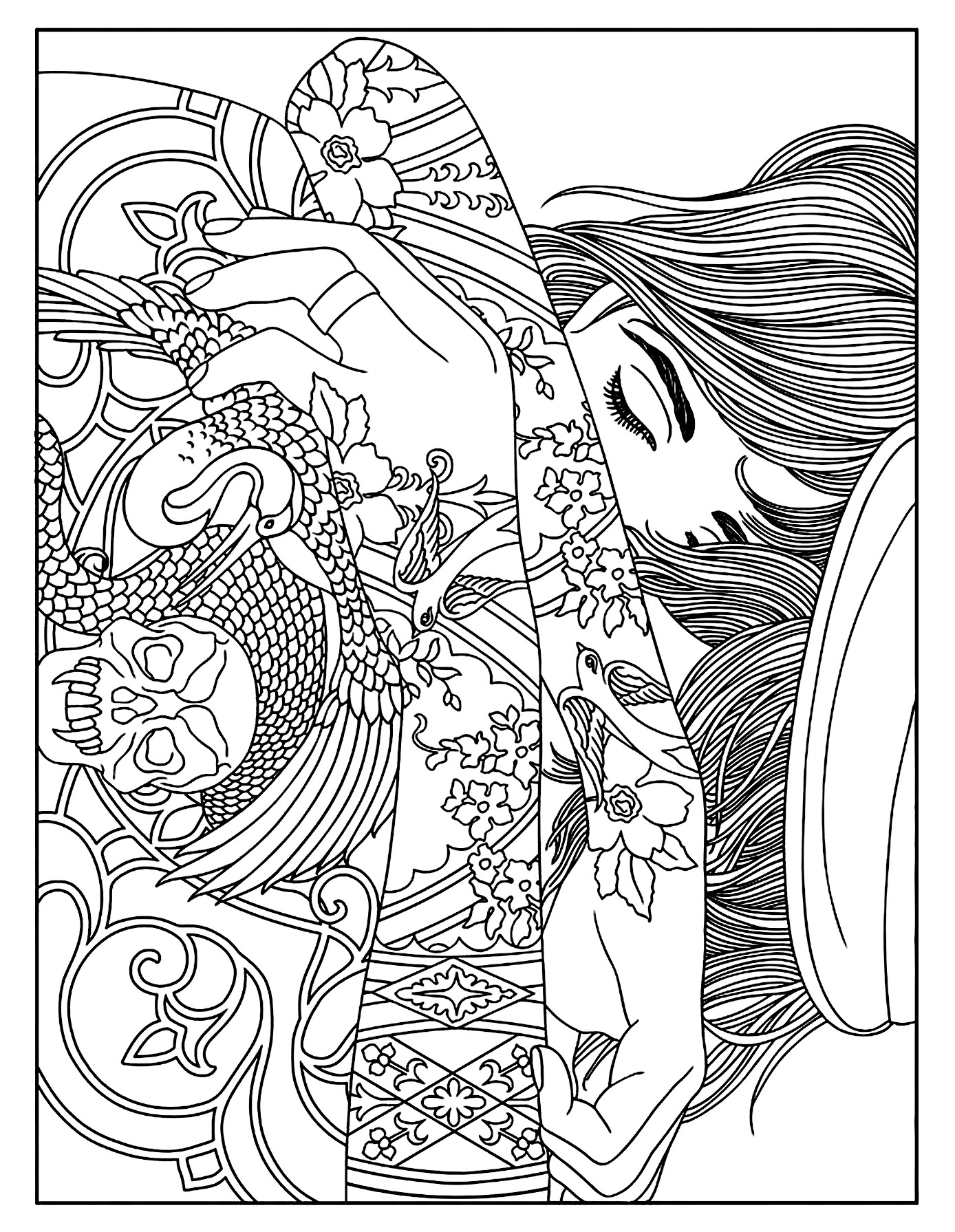 tattoo coloring pages printable tattoo coloring pages coloring pages to download and print pages printable tattoo coloring