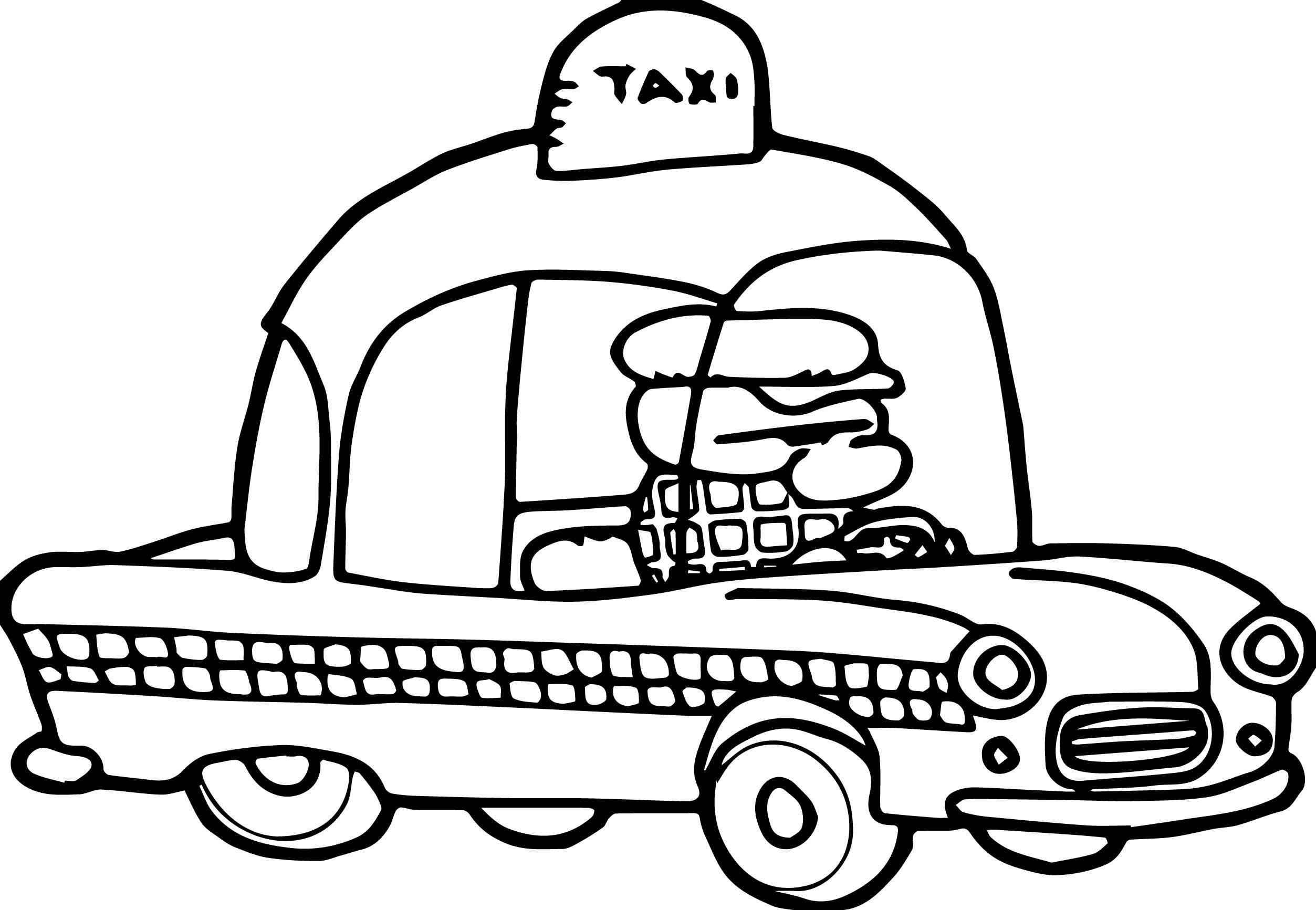 taxi colouring pages basic taxi toy car coloring page cars coloring pages colouring taxi pages