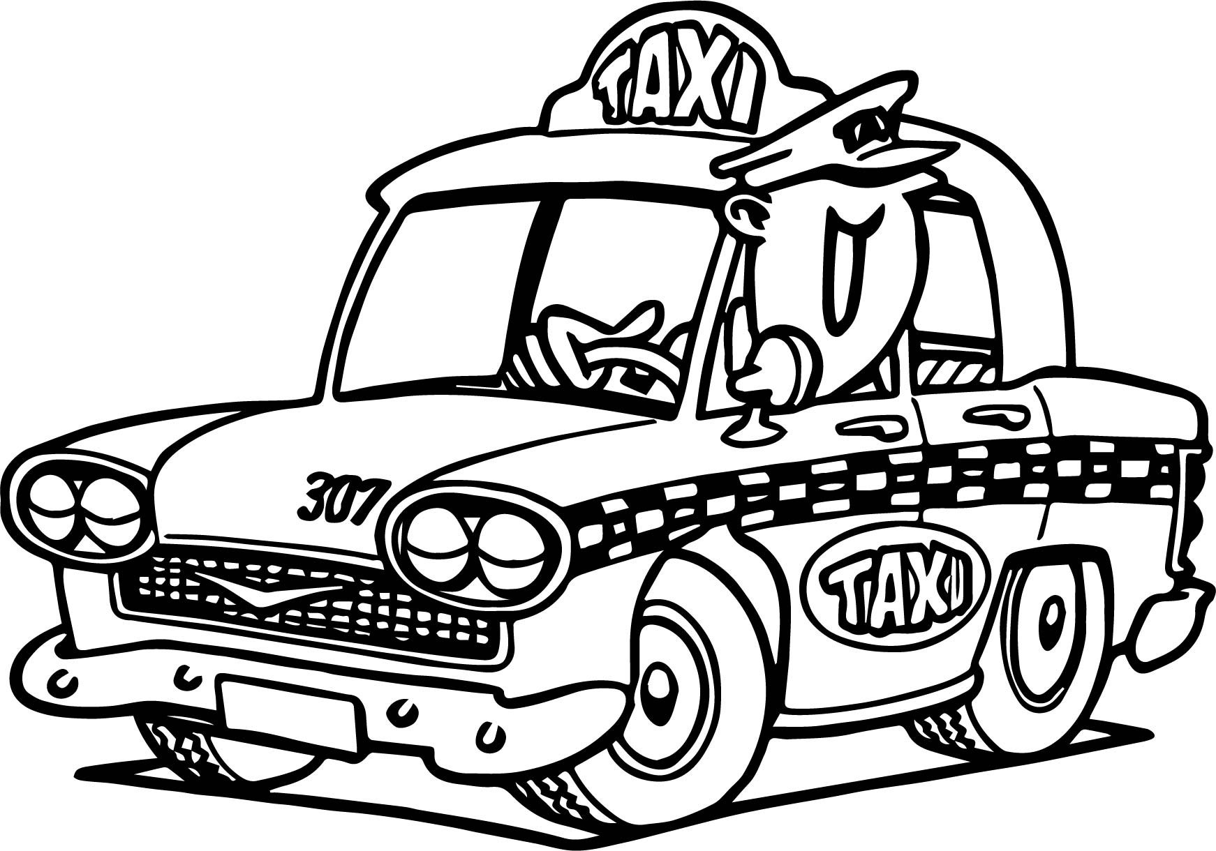 taxi colouring pages driver drawing at getdrawings free download pages taxi colouring