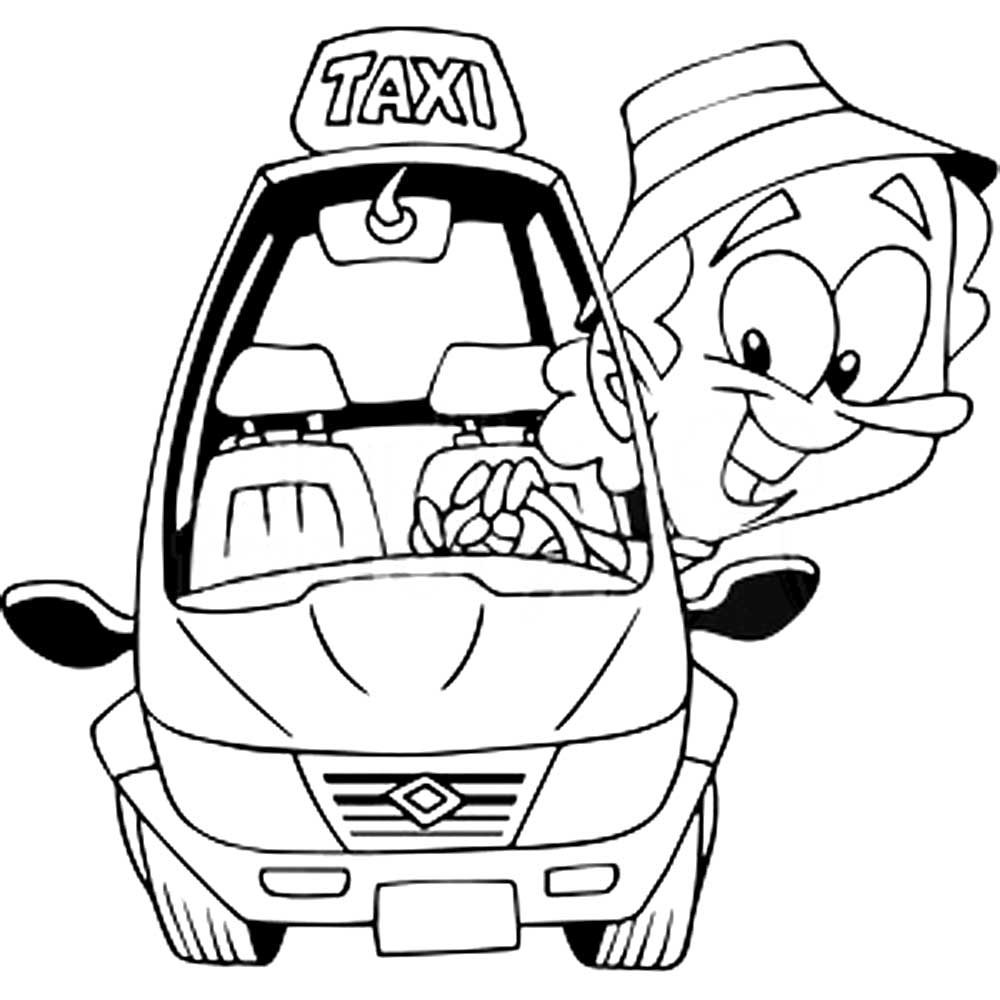 taxi colouring pages free printable taxi coloring pages pages colouring taxi
