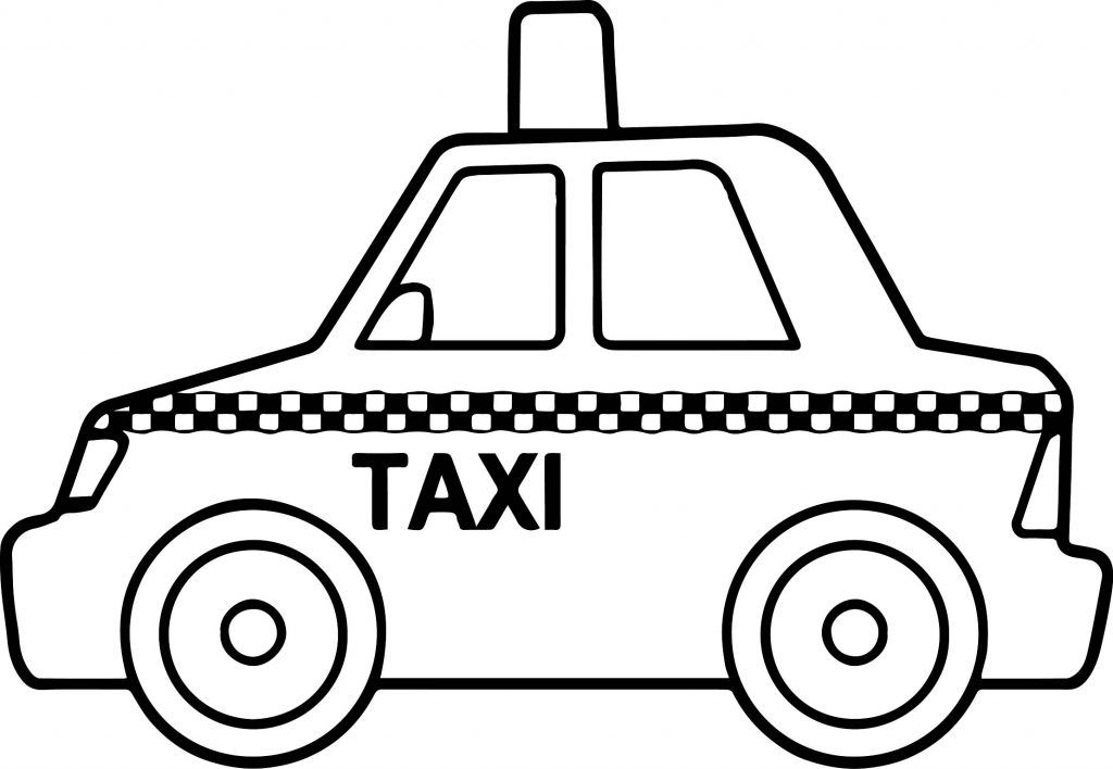 taxi colouring pages taxi box car coloring page wecoloringpagecom colouring taxi pages