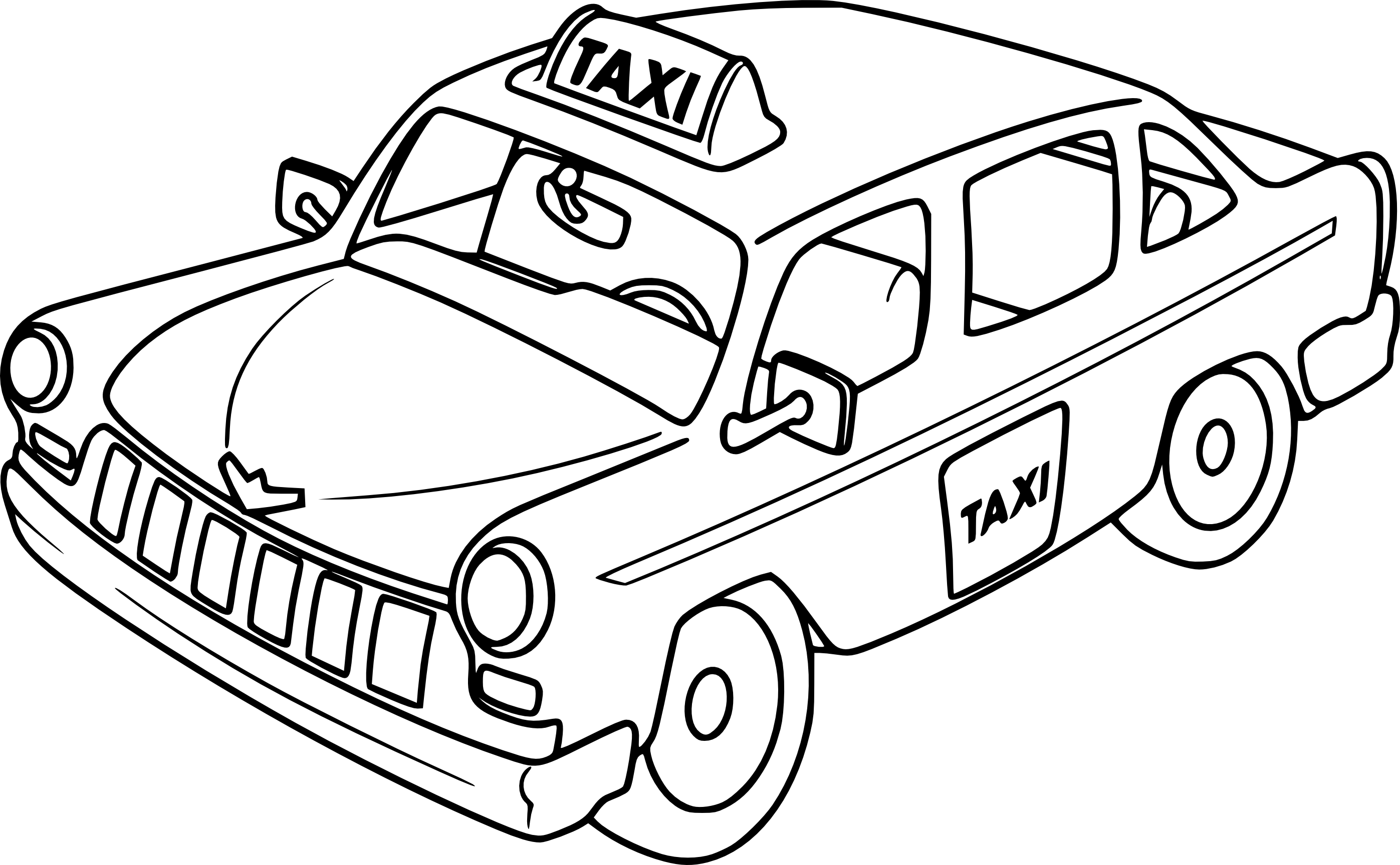 taxi colouring pages taxi coloring pages coloring pages to download and print colouring taxi pages