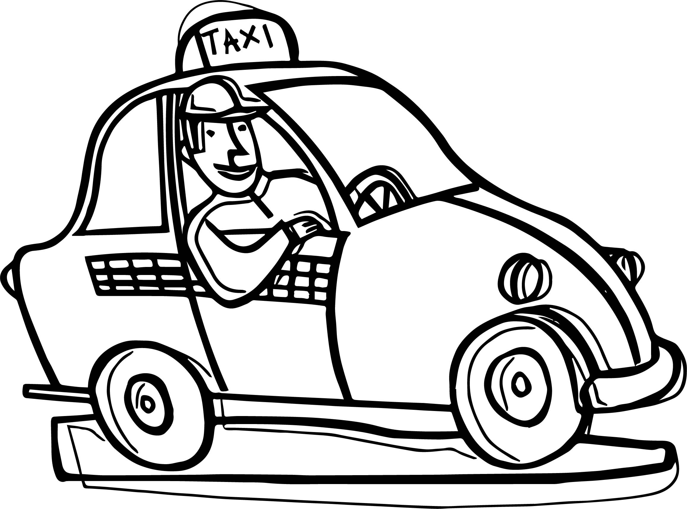 taxi colouring pages taxi coloring pages to download and print for free pages colouring taxi
