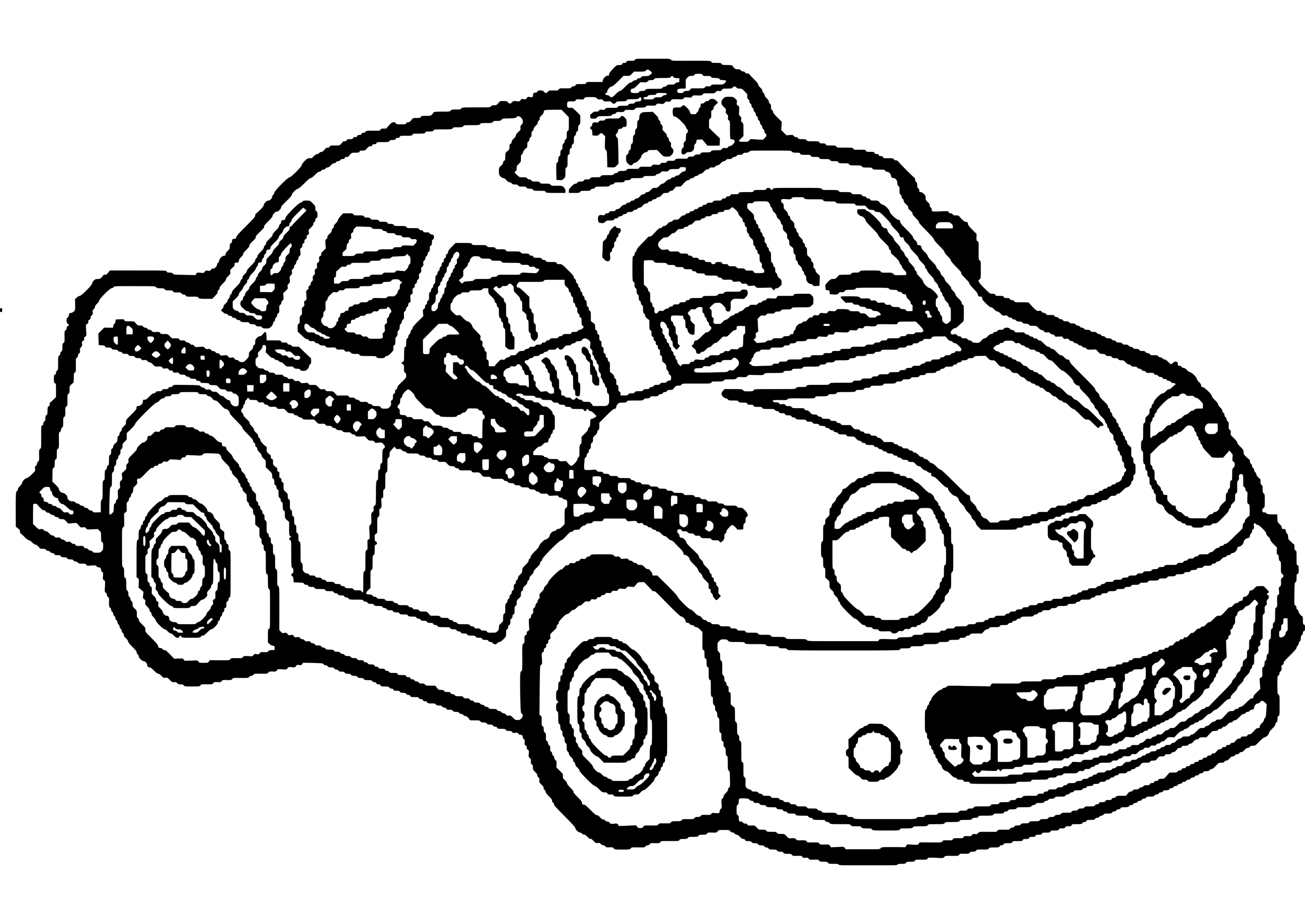 taxi colouring pages taxi colouring pages taxi pages colouring