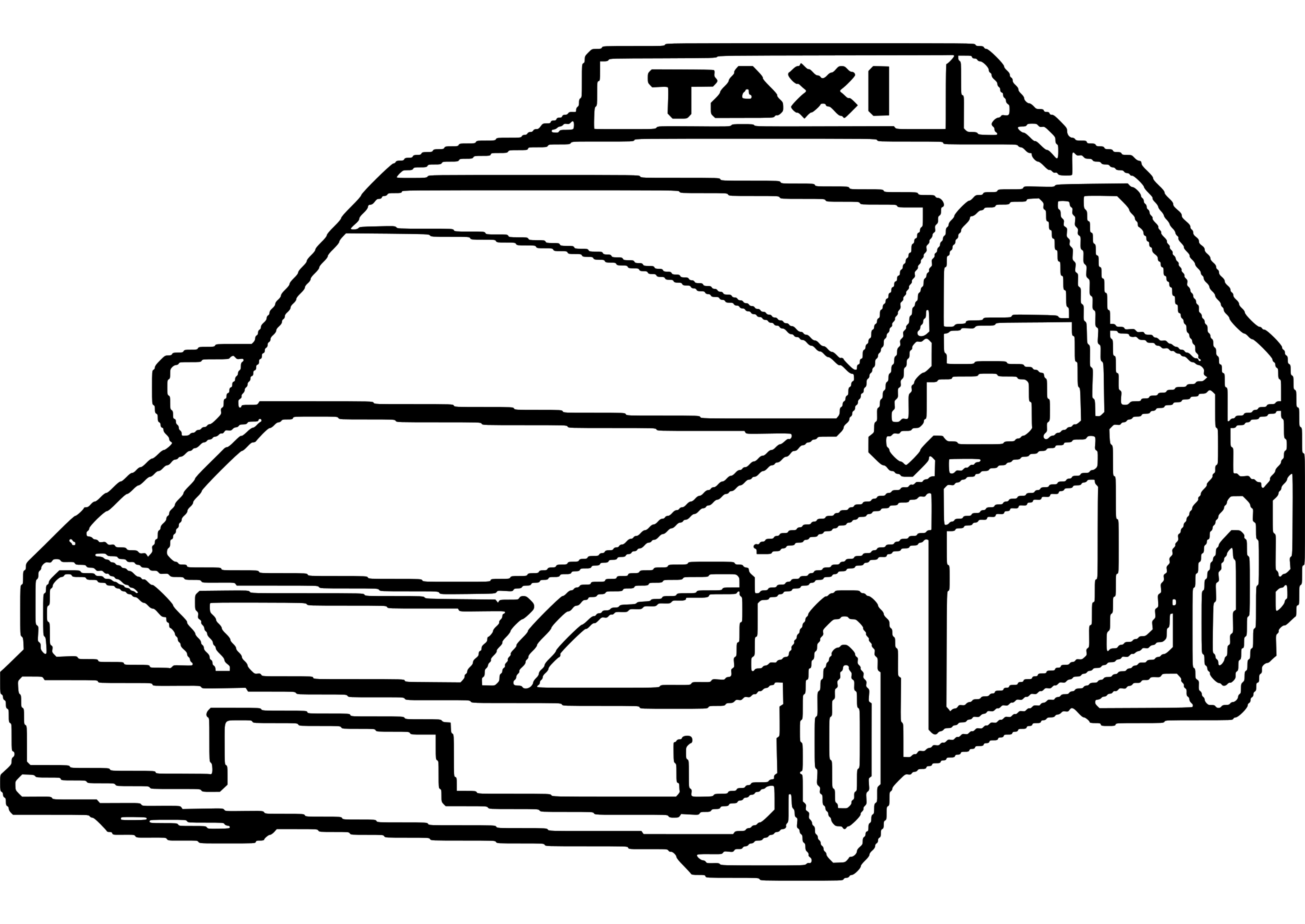taxi colouring pages taxi sheet coloring pages pages colouring taxi