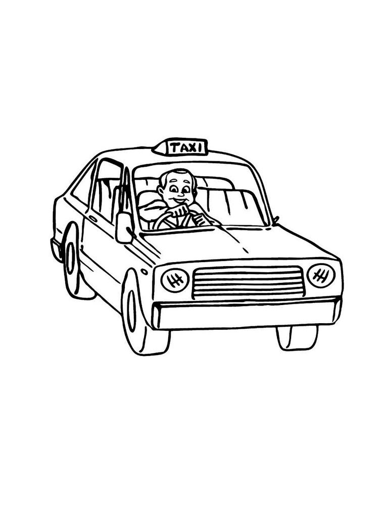 taxi colouring pages taxi silhouette at getdrawings free download colouring taxi pages