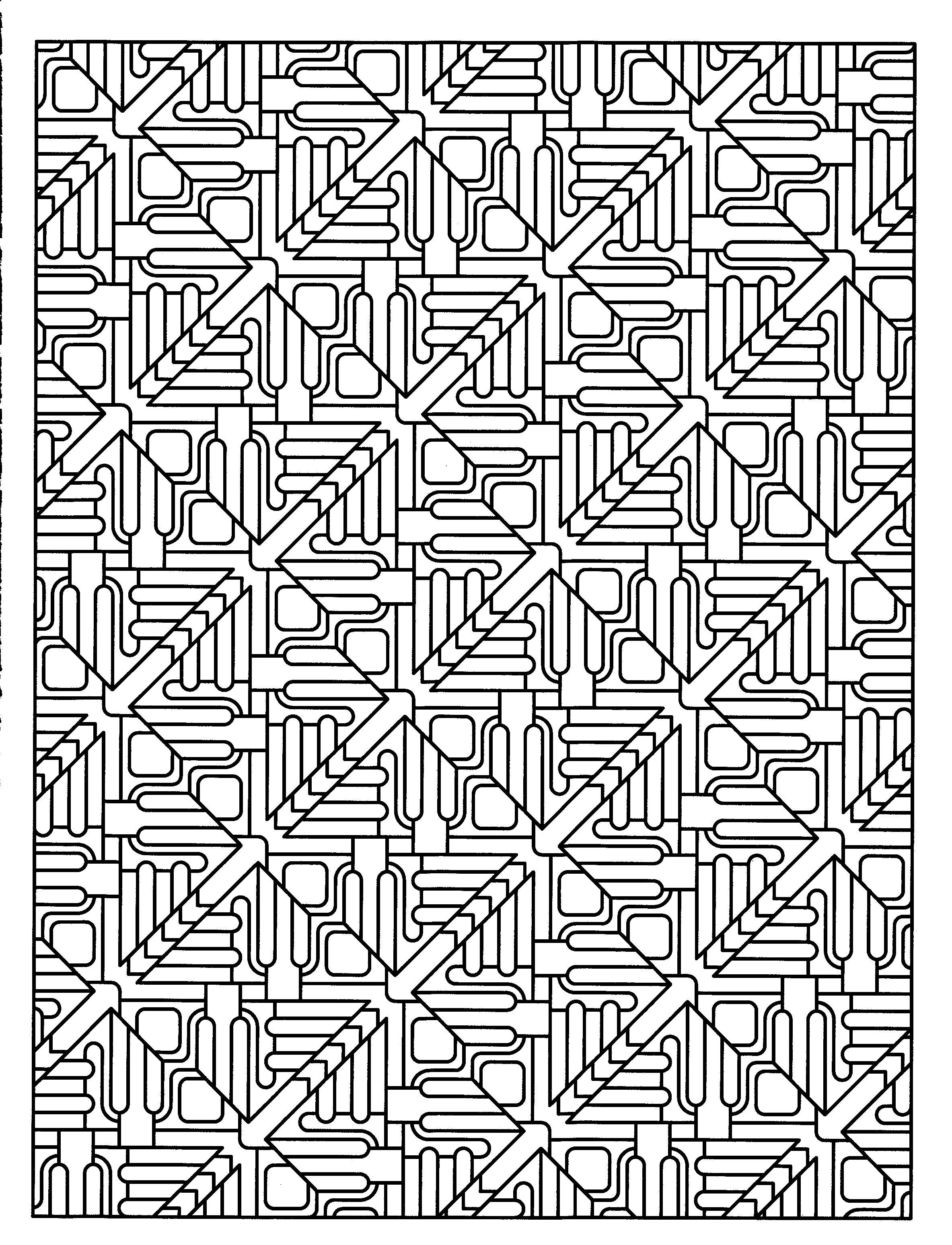 tessellation coloring dover coloring pages for grownups tessellation patterns coloring tessellation