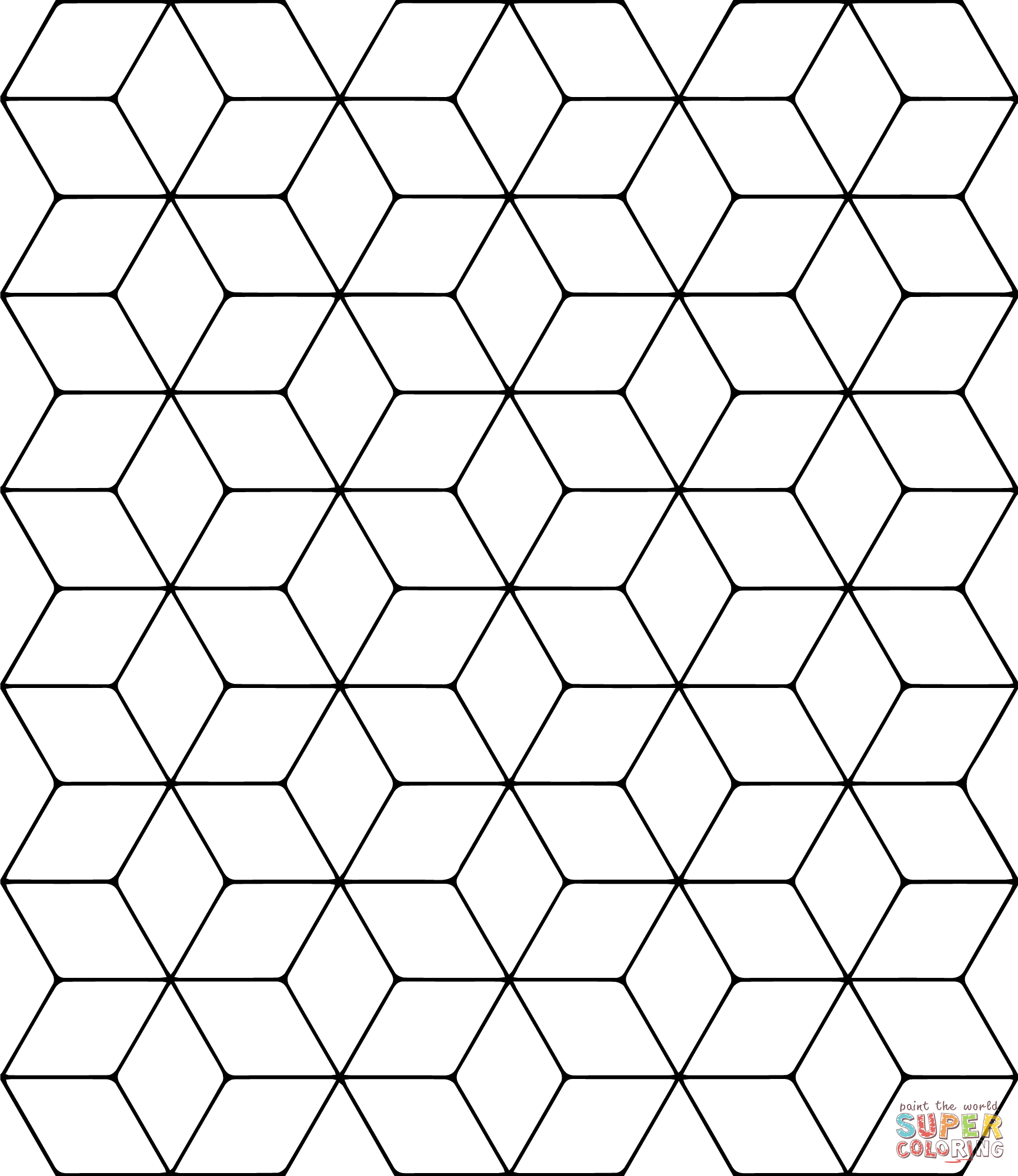 tessellation coloring tessellation with rhombus coloring page free printable tessellation coloring