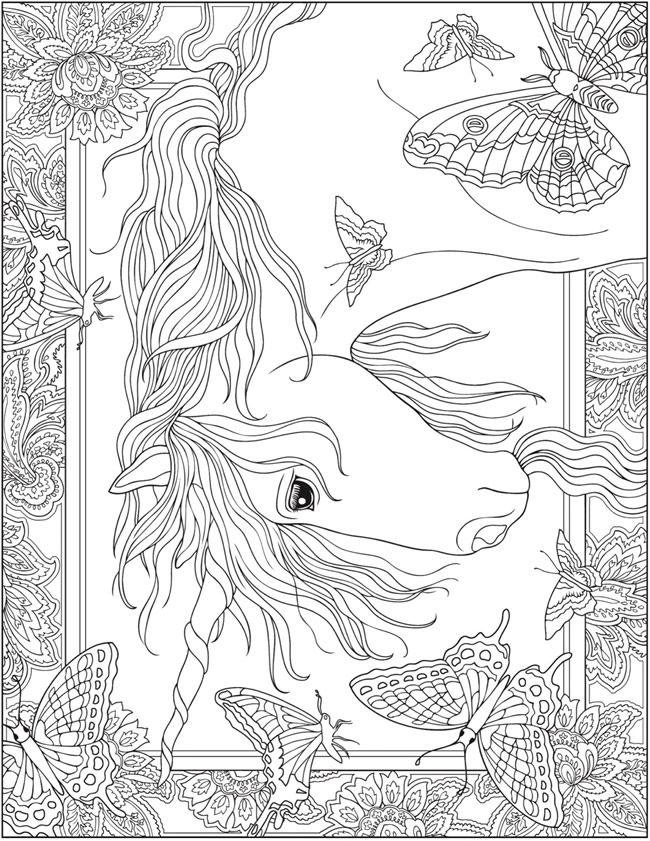 the last unicorn coloring pages creative haven quotunicornsquot coloring book free printable coloring unicorn the pages last