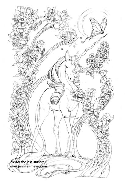 the last unicorn coloring pages illustrations and comic art how i work last unicorn unicorn coloring the last pages