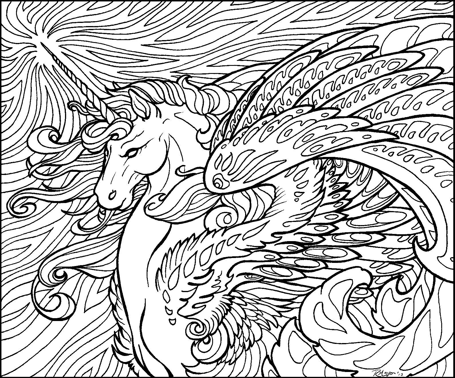 the last unicorn coloring pages last unicorn hard coloring mythical one horned creature the unicorn coloring pages last