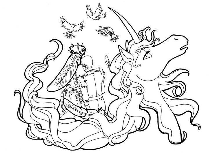 the last unicorn coloring pages the last unicorn colouring page amalthea and lir the unicorn last coloring pages