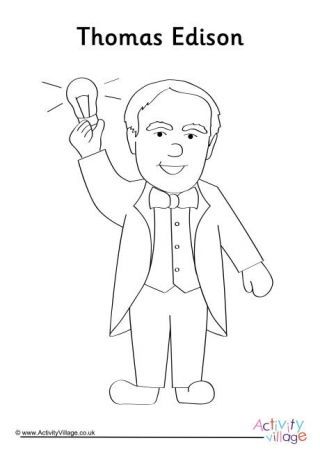 thomas edison coloring page ned kelly colouring page thomas edison coloring page