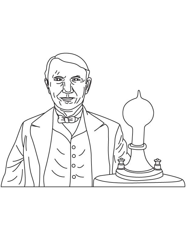 thomas edison coloring page thomas edison tried his invention coloring pages easy to page coloring thomas edison