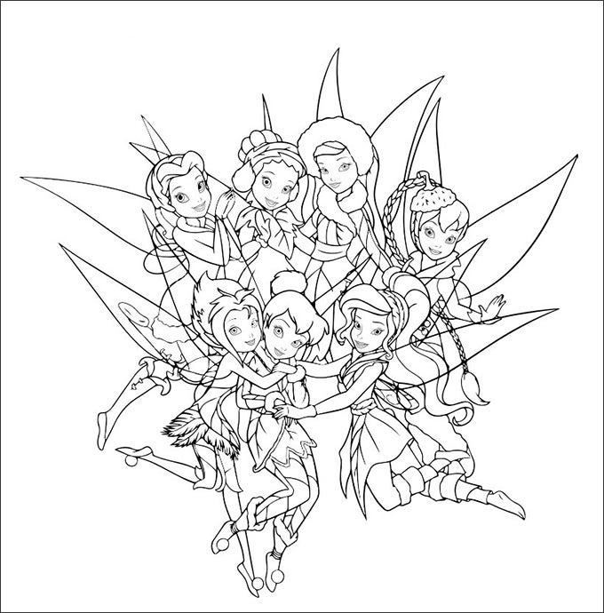tinkerbell and friends coloring pages tinkerbell and friends 01 coloring page coloring page coloring pages tinkerbell friends and