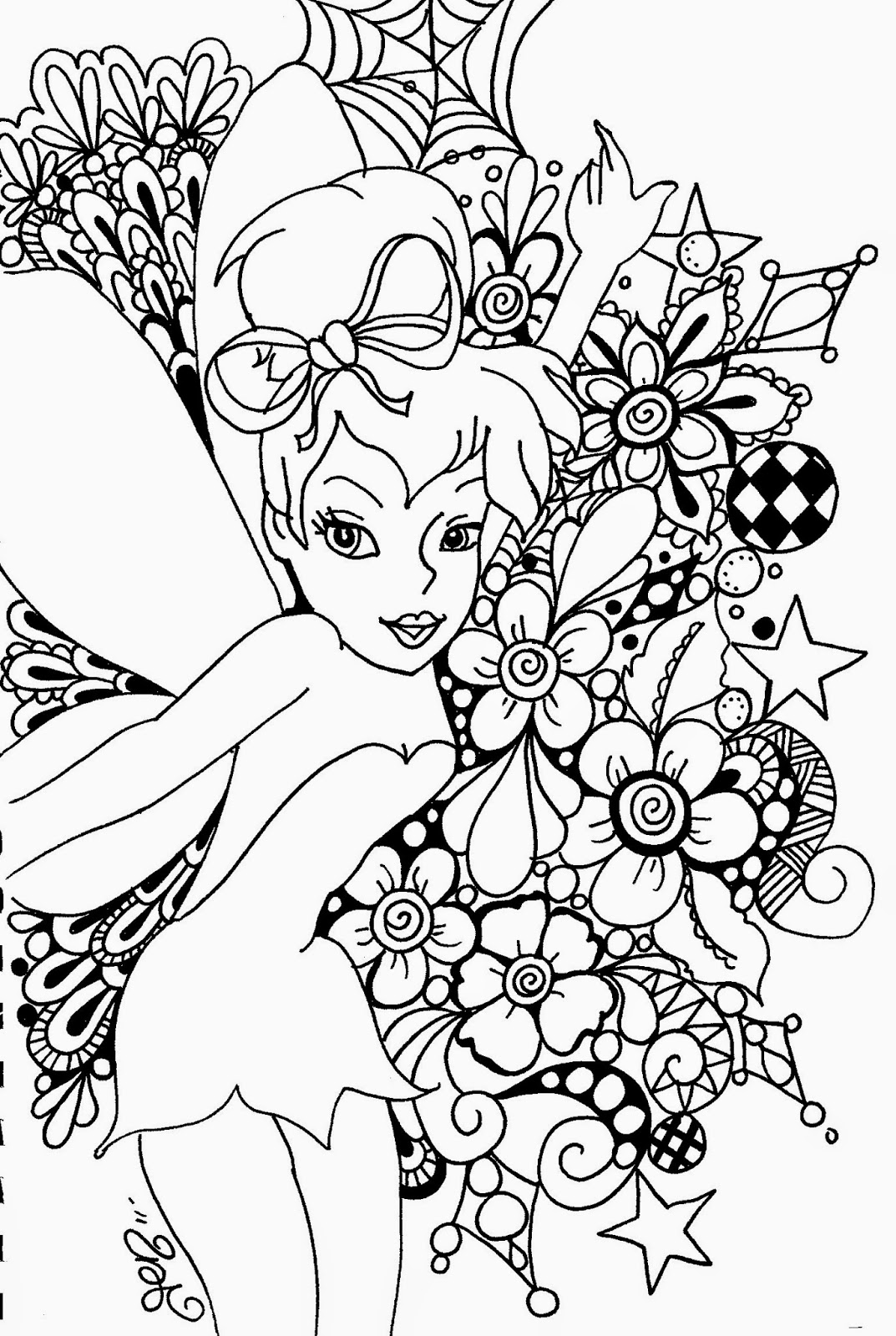 tinkerbell coloring pages free printable coloring pages tinkerbell coloring pages and clip art free pages coloring tinkerbell printable