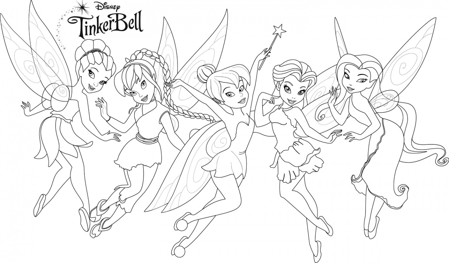 tinkerbell coloring sheets tinkerbell coloring pages quotstrength magicquot gtgt disney coloring tinkerbell sheets