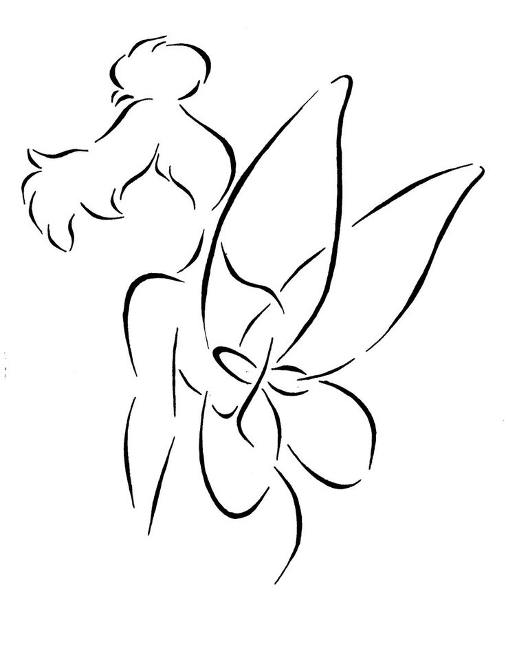 tinkerbell outline tinkerbell outline drawing at getdrawings free download outline tinkerbell