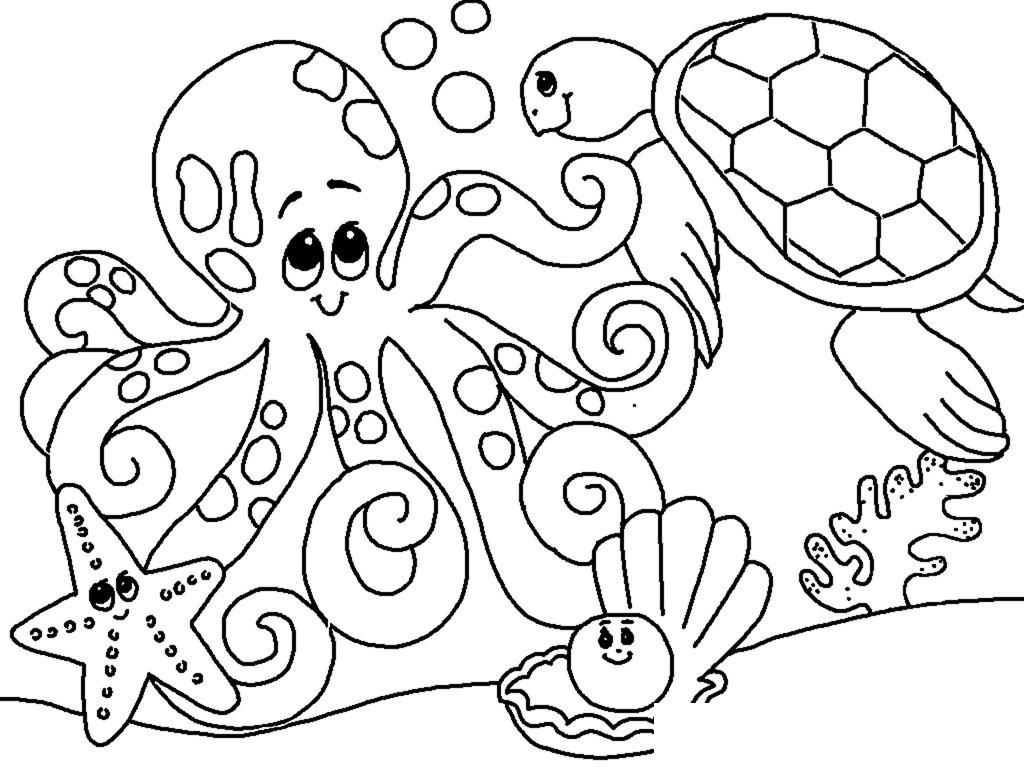 toddler ocean coloring pages free under the sea coloring pages to print for kids toddler ocean coloring pages