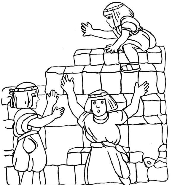 tower of babel coloring page pdf download popolare torre di babele da colorare babel tower coloring of page pdf