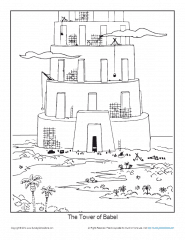tower of babel coloring page pdf the tower of babel coloring page printable sheet of babel tower page coloring pdf