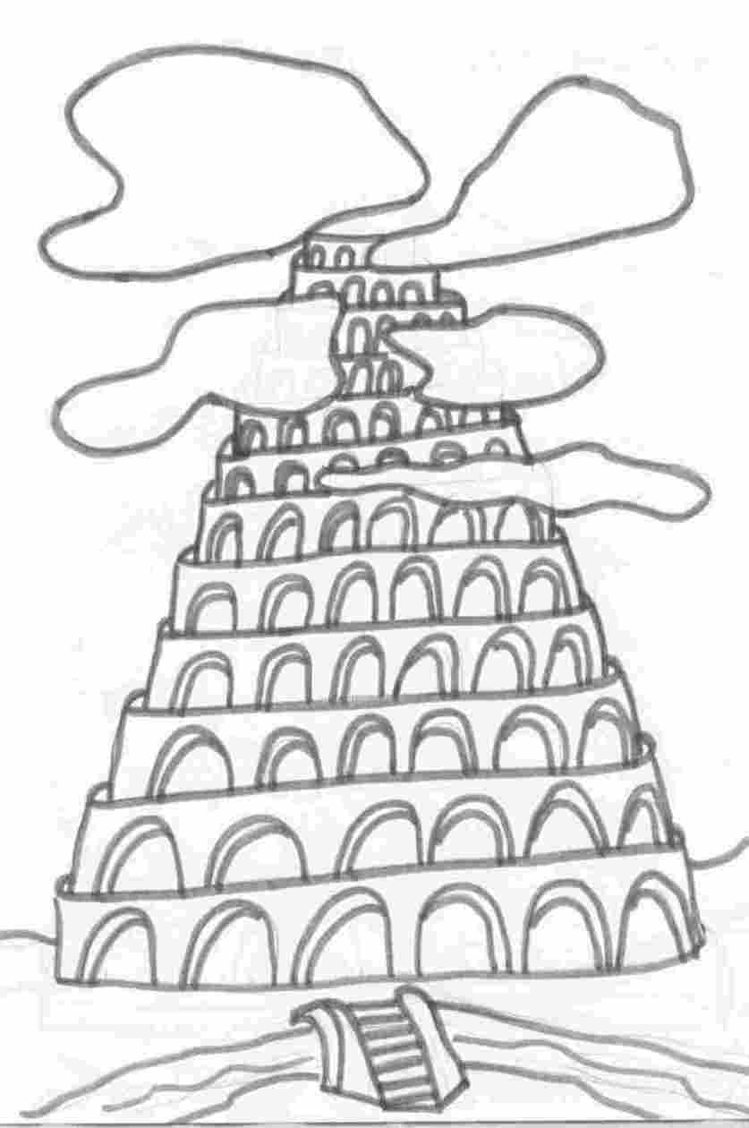 tower of babel coloring page pdf tower of babel coloring page bilscreen babel page coloring of pdf tower