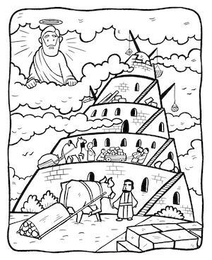 tower of babel coloring page pdf tower of babel coloring page bilscreen babel pdf of page coloring tower
