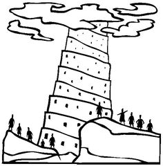 tower of babel coloring page pdf tower of babel coloring pages tower of babel printables of tower babel pdf page coloring