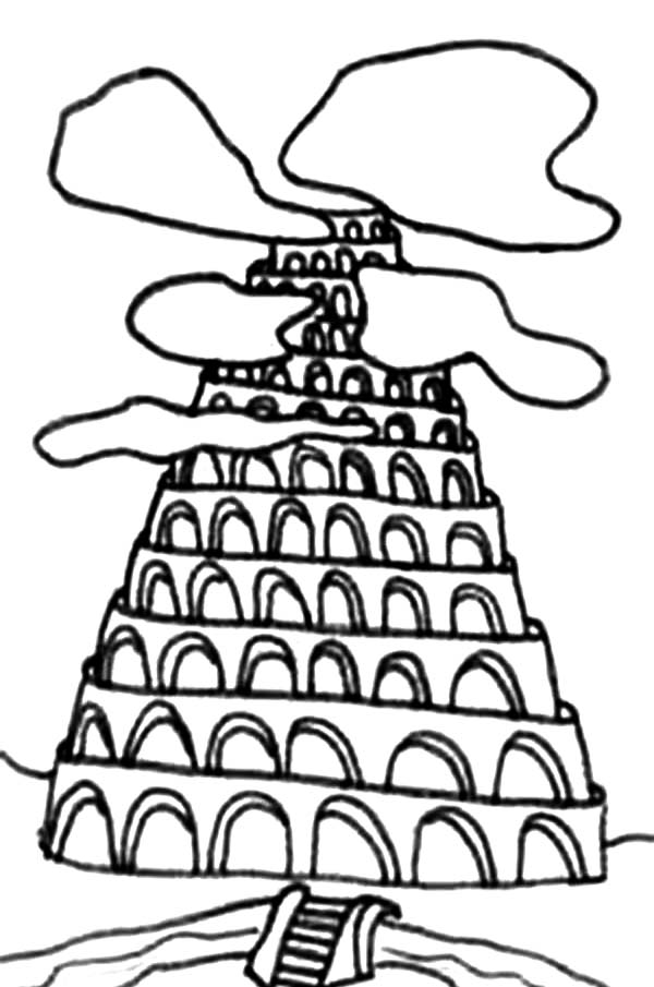 tower of babel coloring page pdf tower of babel drawing coloring page tower of babel of coloring tower pdf babel page