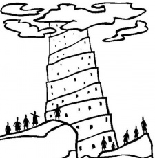 tower of babel coloring page pdf tower of babel icharactermedia tower coloring babel pdf page of