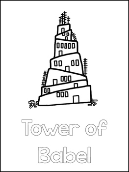 tower of babel coloring page pdf tower of babel printable color sheets preschool bible tower page babel pdf of coloring